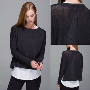 EUC🌸 Lululemon Bhakti Life Open Knit Back Sweater